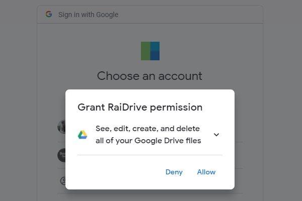 RaiDrive - Google Drive Access