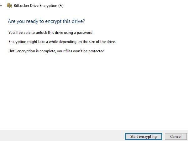 Start Encrypting USB Flash Drive