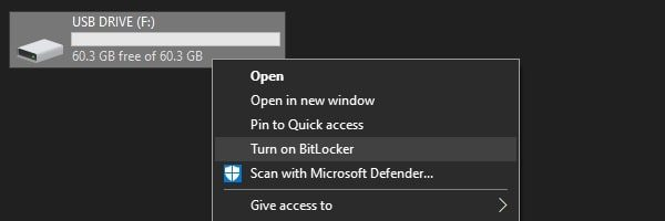 Turn on BitLocker
