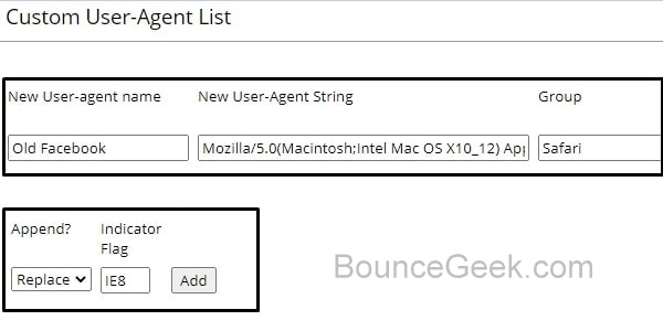 Custom User-Agent to Switch Back to Classic Facebook