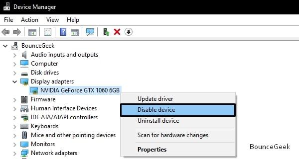 Disable NVIDIA GPU