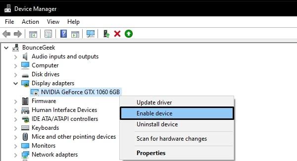Enable NVIDIA GPU