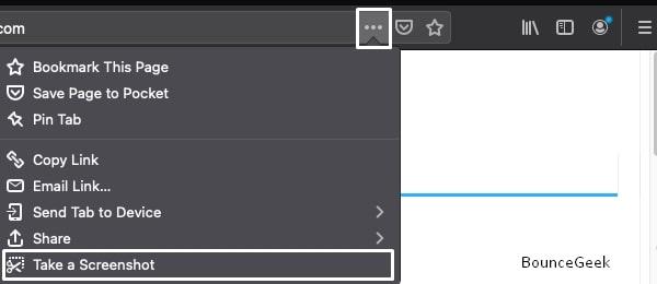 Firefox Take a Screenshot