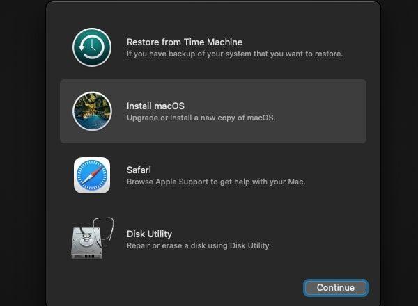 Install macOS Big Sur