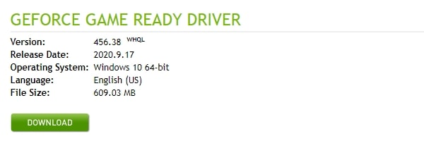 NVIDIA Graphics Card Driver Download