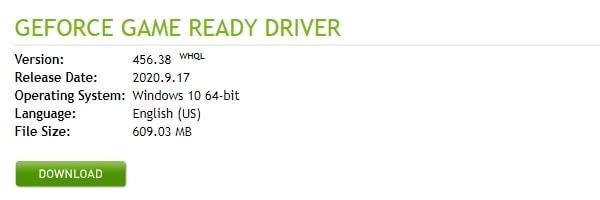 NVIDIA Graphics Card Driver Download
