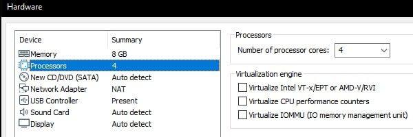 Number of Processor Core 4 - macOS 10.16 Beta