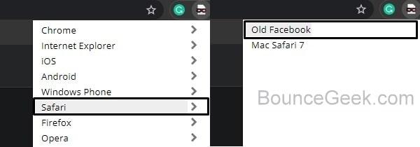 Safari Old Facebook User Agent
