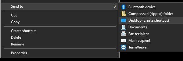 Create Screenshot Folder Shortcut on Desktop