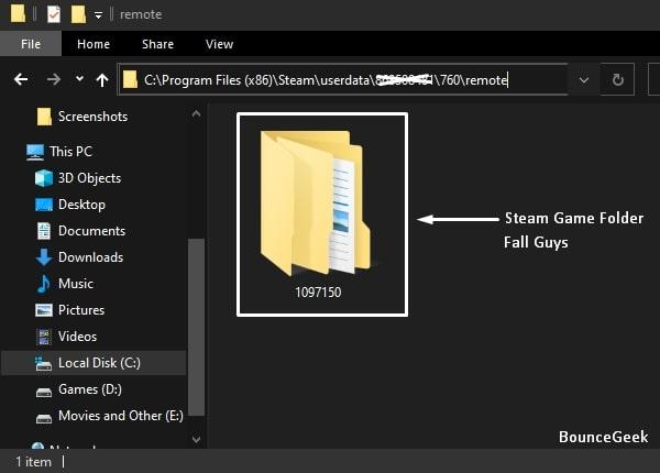 Steam Remote Folder - Game Folder Inside
