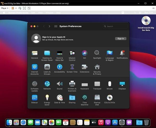 Install macOS Big Sur on VMware - Installtion Completed