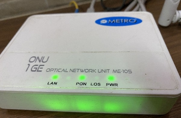 Check LED Indicators of Modem - WiFi connected but no internet