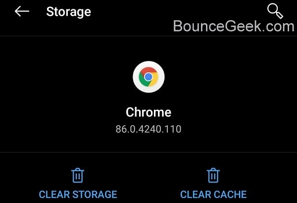Clear Chrome Storage and Cache