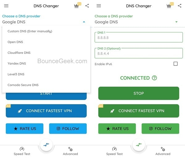 This Site Can't Be Reached - DNS Changer Android App
