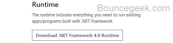 Install Latest .NET Framework