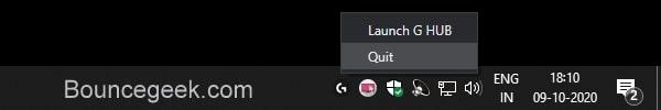 Quit Logitech G HUB