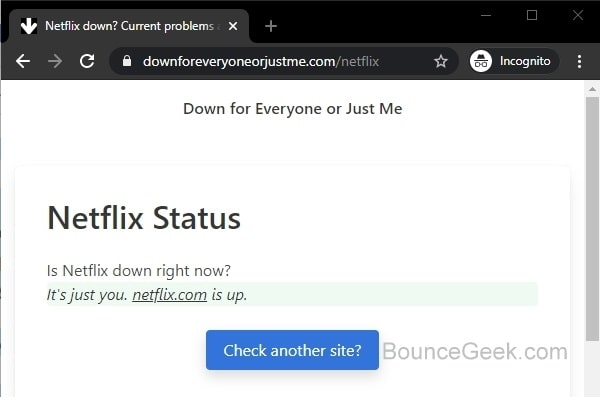 This Site Can't Be Reached - Site is up - downforeveryoneorjustme