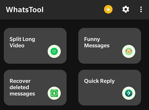 WhatsTool Recover deleted messages option