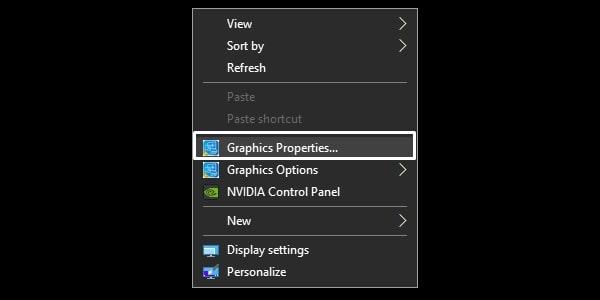 Intel Graphics Properties