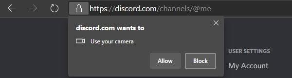 Discord Camera Permission