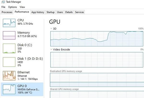 GPU Running at 100%