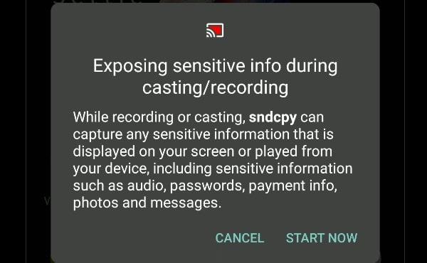 Exposing Sensitive info during casting recording