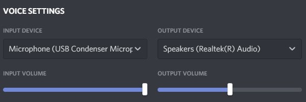 Select Discord Input and Output device - Discord is picking up Game Audio