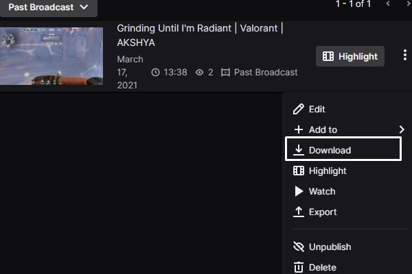 Download Twitch VODs Video