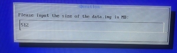 Input the size of the Data Image