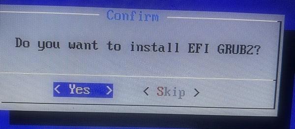 Install EFI GRUB2 for LineageOS