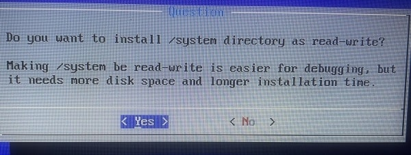 Install System Directory as Read-Write for LineageOS PC