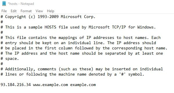 Find out Website IP and add to Hosts File